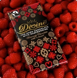 Divine's Dark Chocolate with Raspberries