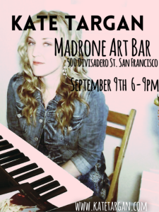 Join me September 9th at  Madrone Art Bar!
